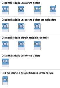 SKF Cuscinetti radiali a sfere